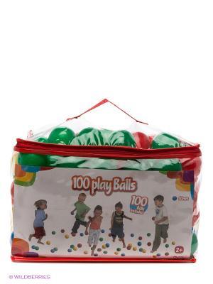 Набор пластиковых шариков в сумочке Five Stars. Цвет: зеленый