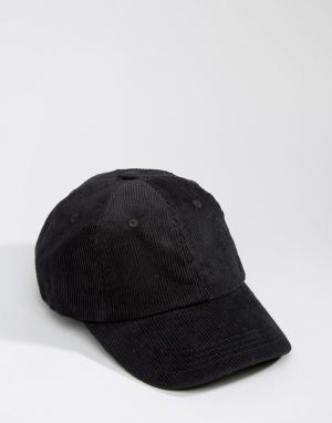 Dead Vintage Вельветовая бейсболка. Цвет: черный