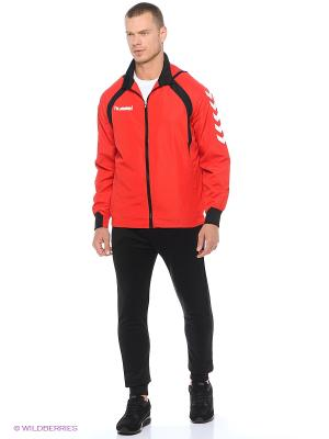 Курткa TEAM PLAYER MICRO JACKET HUMMEL. Цвет: красный