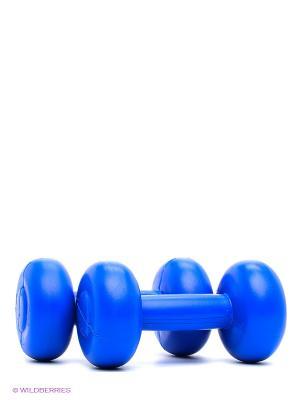 Гантели 1 кг Larsen. Цвет: синий