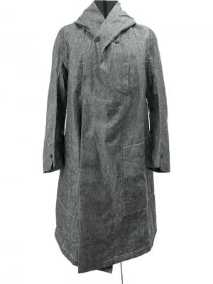 Пальто с асимметричным передом Masnada. Цвет: серый