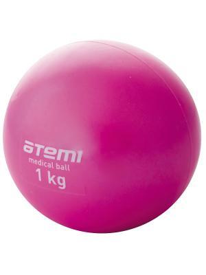 Медицинбол 1 кг Atemi. Цвет: розовый
