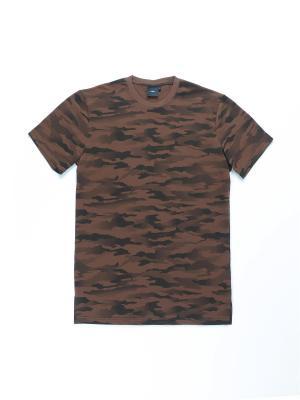 Футболка HRB. Цвет: коричневый