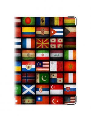 Обложка для паспорта кожа Флаги Tina Bolotina. Цвет: черный, красный, желтый