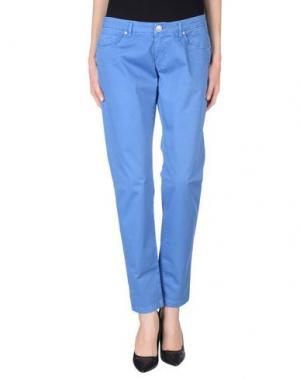 Повседневные брюки MISS MONEY. Цвет: ярко-синий