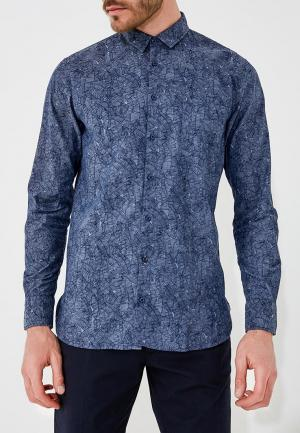 Рубашка джинсовая Boss Hugo. Цвет: синий