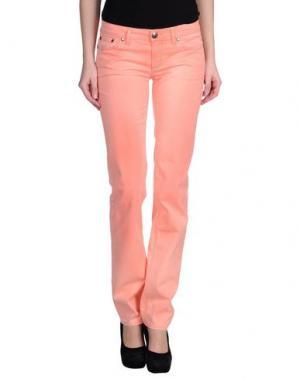 Повседневные брюки LOVE SEX MONEY. Цвет: лососево-розовый