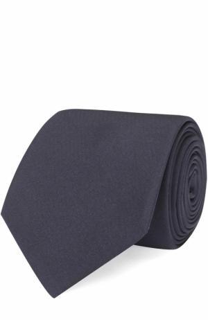 Шелковый галстук Lanvin. Цвет: темно-синий