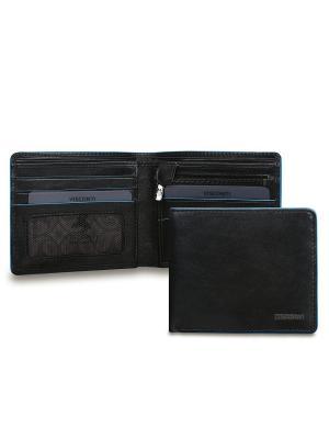 Бумажник Ozwald Visconti. Цвет: черный