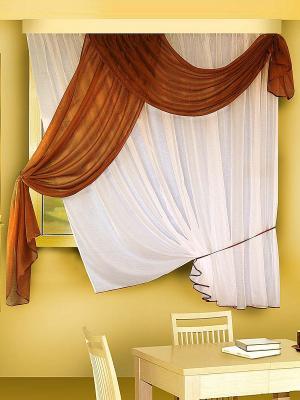 Комплект штор ZLATA KORUNKA. Цвет: коричневый