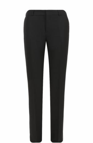 Брюки прямого кроя с карманами Saint Laurent. Цвет: черный