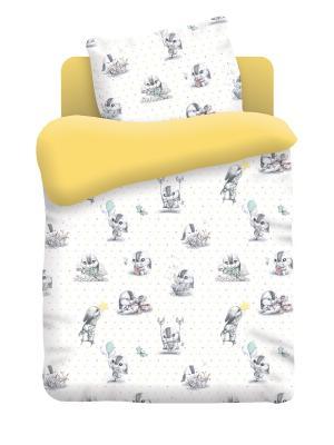 Постельное белье Непоседа. Цвет: желтый