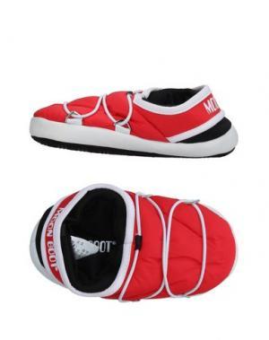 Домашние туфли MOON BOOT. Цвет: красный