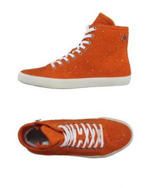 Высокие кеды и кроссовки APEPAZZA. Цвет: оранжевый