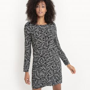 Платье с рисунком SUD EXPRESS. Цвет: черный