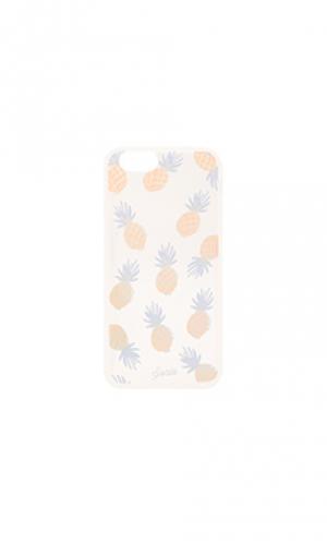 Прозрачный чехол для iphone 6/6s rainbow pineapple Sonix. Цвет: металлический серебряный