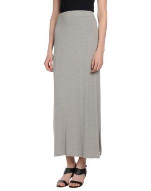 Длинная юбка SHE WISE. Цвет: серый