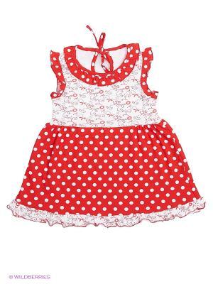 Платье Апрель. Цвет: красный, розовый, белый