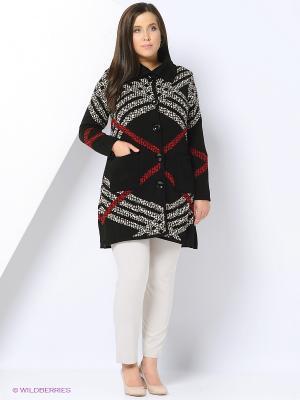 Пальто Milana Style. Цвет: красный