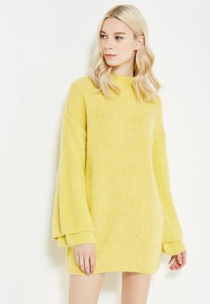 Платье Miss Selfridge. Цвет: желтый