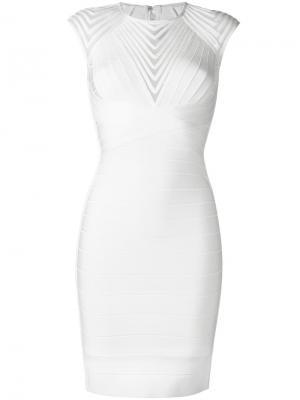 Платье Deanna Hervé Léger. Цвет: белый