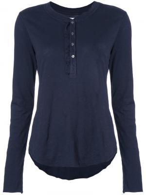 Henley T-shirt NSF. Цвет: синий