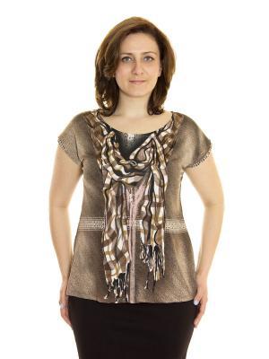 Блузка Siman Fashion. Цвет: коричневый