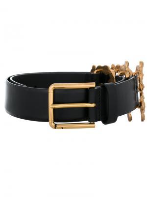 Ремень с логотипом Dolce & Gabbana. Цвет: чёрный