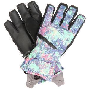 Перчатки сноубордические женские  Gore Undgl Sorcerer Pretty Oops Burton. Цвет: черный,мультиколор
