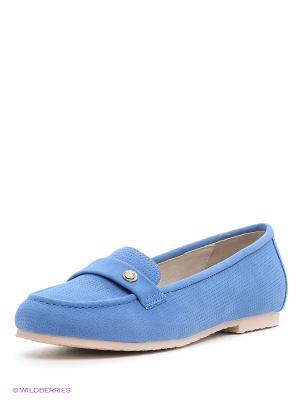 Мокасины KEDDO. Цвет: голубой
