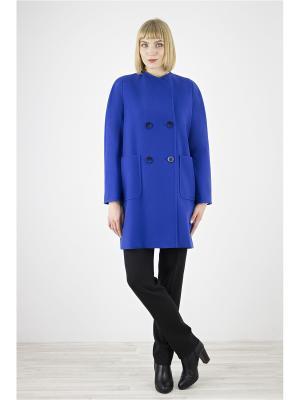 Пальто Elema. Цвет: темно-синий