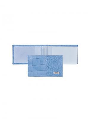 Футляр для кредитных карт Tirelli. Цвет: голубой