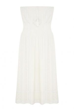 Шелковое платье-бюстье Talitha. Цвет: кремовый