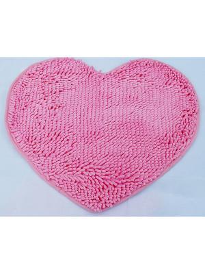 Коврик для ванной, 53х60 La Pastel. Цвет: розовый