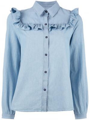 Frill hem shirt A.P.C.. Цвет: синий