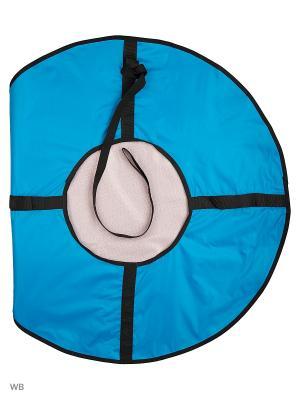 Санки надувные Ватрушка Метиз. Цвет: голубой, розовый