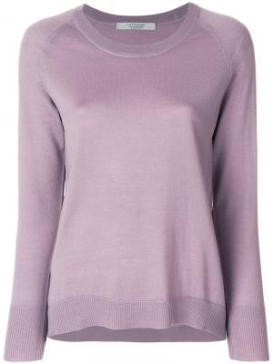 Пуловер с длинными рукавами  La Fileria For Daniello D'aniello. Цвет: розовый и фиолетовый