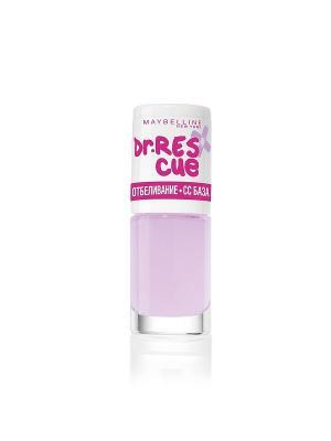 Уход за ногтями DR. RESCUE, отбеливание - СС базовое покрытие, осветляющий, 7 мл Maybelline New York. Цвет: бледно-розовый, молочный