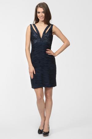 Платье вечернее Basix Black Label. Цвет: синий