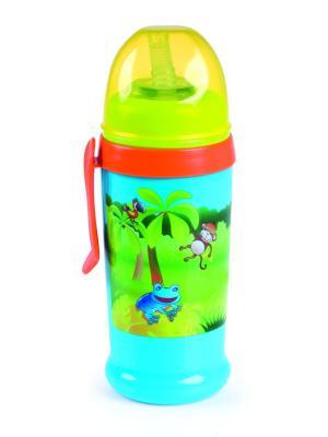 Поильник-непроливайка спортивный с трубочкой и крышкой, 350 мл, 12+, цвет: голубой Canpol babies. Цвет: голубой