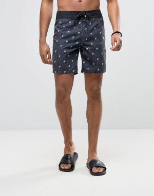 Billabong Пляжные шорты 17 дюймов. Цвет: черный