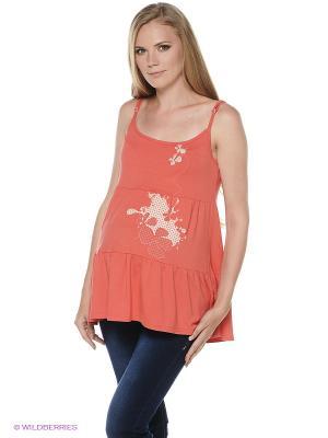Блузка для беременных impressmama. Цвет: коралловый