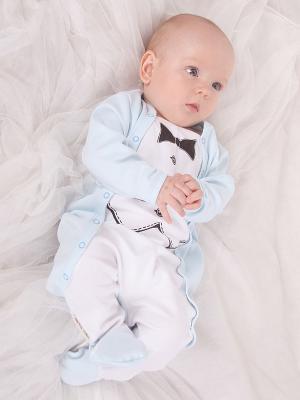Комбинезон Lucky Child. Цвет: голубой, белый