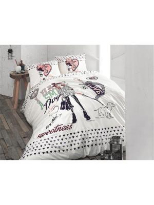 Комплект постельного белья MY LITTLE DREAM, ранфорс, 145ТС, 100% хлопок, 1,5x ISSIMO Home. Цвет: белый