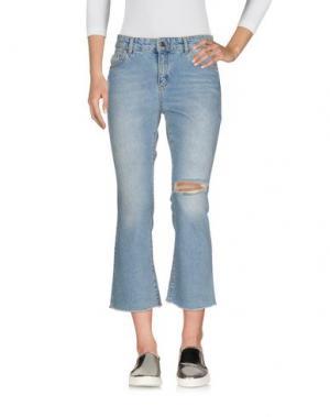 Джинсовые брюки-капри SET. Цвет: синий