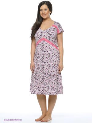 Ночная сорочка Mojo Collection. Цвет: розовый