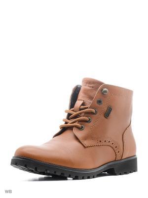 Ботинки GUT. Цвет: коричневый, темно-бордовый