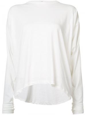 Блуза с удлиненными рукавами Isabel Benenato. Цвет: белый