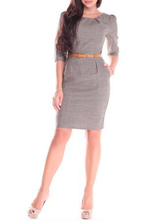 Платье Dioni. Цвет: бежевый, хаки