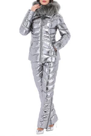 Комплект: пуховая куртка и штаны Conso. Цвет: стальной